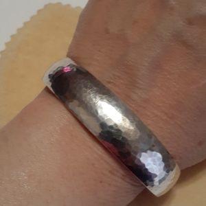 James Avery Sterling Silver Hammered Bracelet